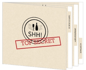 Top Secret Surprise Party Booklet Invitation