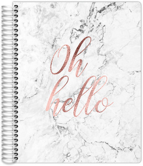 Oh Hello Faux Rose Gold Monthly Planner