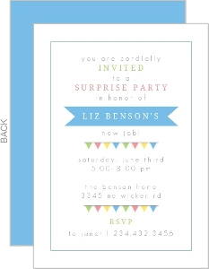 Colorful Flags Surprise Party Invitation