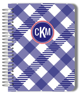 Gingham Stripe Monthly Planner