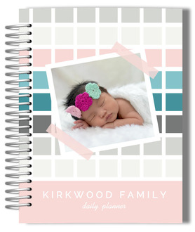 Precious Pattern Photo Monthly  Family Planner