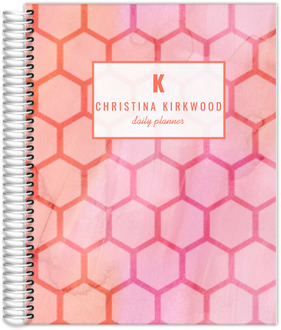 Watercolor Geometric Pattern Daily Planner