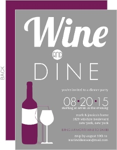 wine party invitations & wine tasing invitation, Party invitations