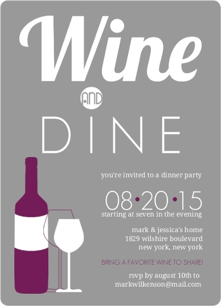 Wine Party Invitations & Wine Tasing Invitation