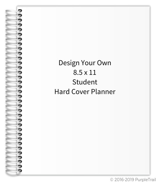 Design Your Own 8 5 X 11 Student Hard Cover Planner