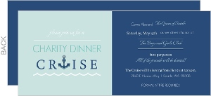 Blue Dinner Cruise Charity Invitation