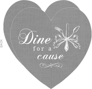 Gray And White Heart Charity Invitation