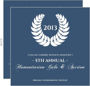 Elegant Navy And White Seal Charity Fundraiser Invitation