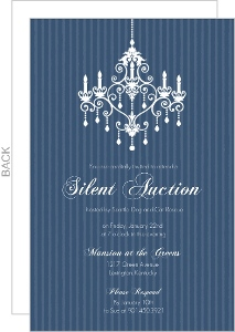 Chandelier Silent Auction Fundraiser Invitation