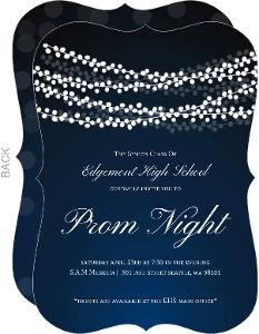 Sparkling String Lights Prom Invitation