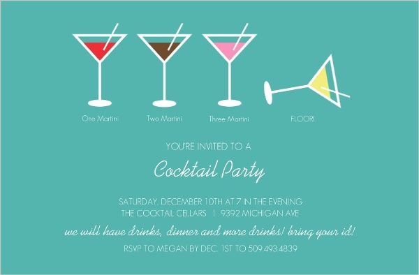 Martini Cocktail Party Invitation – Coctail Party Invitation