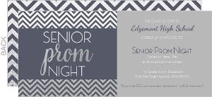 Grey and Silver Prom Night Invitation