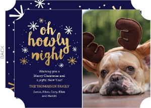 Oh Howly Night Dog Christmas Card