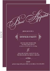 Plum Bon Appetit Dinner Invitation