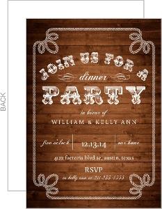 Western Hospitality Dinner Invitation