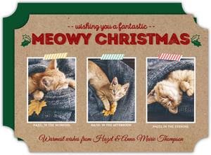 Crafty Meowy Christmas Cat Holiday Photo Card
