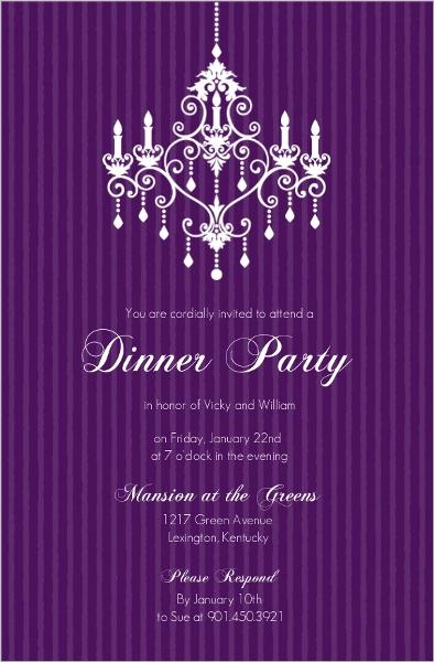 dinner party invitations & dinner invitations, Birthday invitations