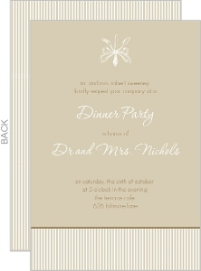 Brown And White Antique Dinner Party Invite