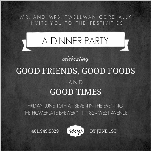 Dinner Party Invitations Dinner Invitations – Birthday Dinner Party Invitations