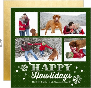 Howliday Collage Pet Holiday Photo Card