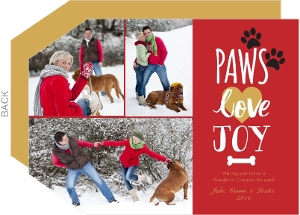 Paw Love Prints Dog Christmas Card