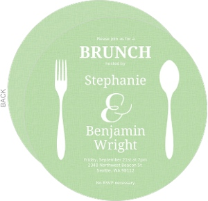 Flatwear Circle Brunch Invitation