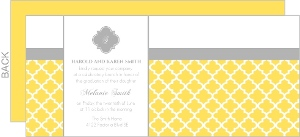 Yellow And Gray Patterend Brunch Invitation