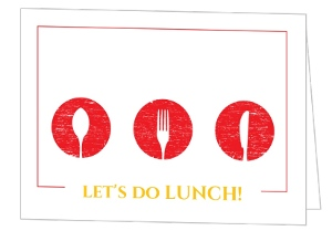 Lunch Table Silverware Lunch Invitation