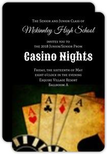 Poker Night Prom Casino Party Invitation