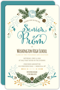 Whimsical Woodland Prom Invitation