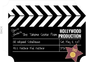 Hollywood Movie Prom Invitation