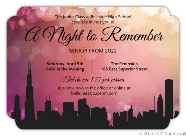 City Scape Prom Night Invitations | Prom Invitations