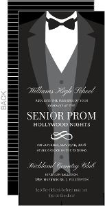 Fomal Tuxedo Prom Invitation