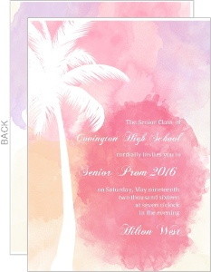 Watercolor Tropical Paradise Prom Invitation