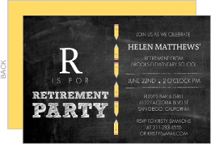 Abcs Teacher Retirement Party Invitation