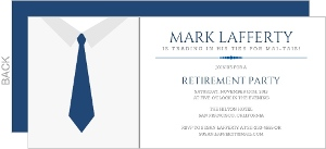 Business Tie Retirement Invitation