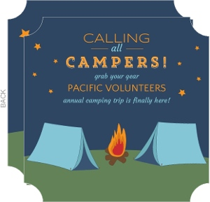 Starry Night Camping Invite