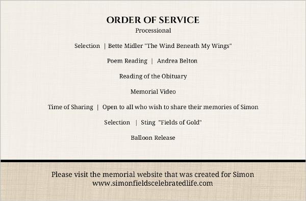 Old Timey Life Celebration Funeral Program | Memorial Cards