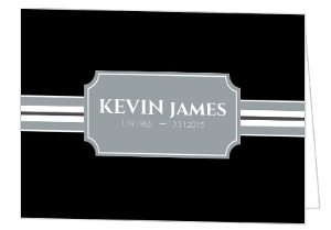 Simple Gray Stripes Funeral Invitation