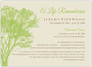 Rustic Brown Tree Funeral Program