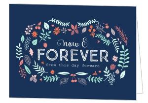 Vintage Garden Frame Wedding Congratulations Card