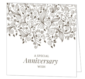 Elegant And Simple Anniversary Congratulations Card