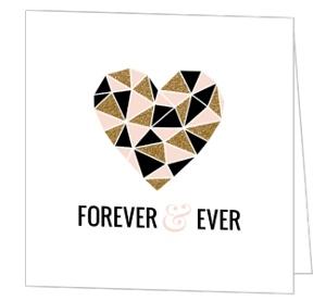 Modern Geometric Glitz Wedding Congratulations Card