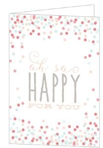 Cute Confetti Bridal Shower Congratulations Card