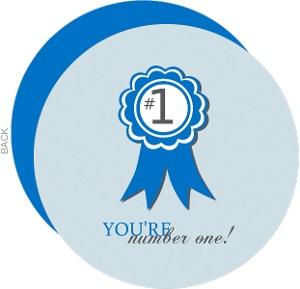 Blue Ribbon Congatulations Card