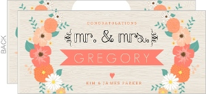 Modern Floral Arrangement Wedding Congratulations Card