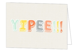 Yippee Colorful Congratulations Card