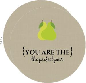 Perfect Pair Tan Congratulations Card