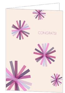 Purple Confetti Congratulations Card