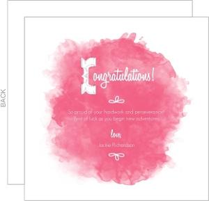 Pink Watercolor Congratulations Card